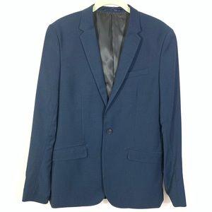 H&M navy blue skinny fit blazer 38R